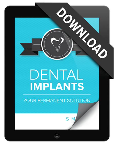 Preview of the Dental Implants eBook on a tablet which is provided by this dentist in Edgewater, NJ to help you understand dental impants
