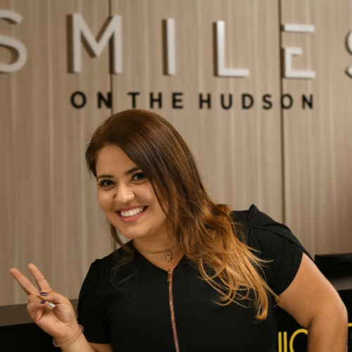 Carolina T. is excited to see you at our dental practice in Edgewater, New Jersey