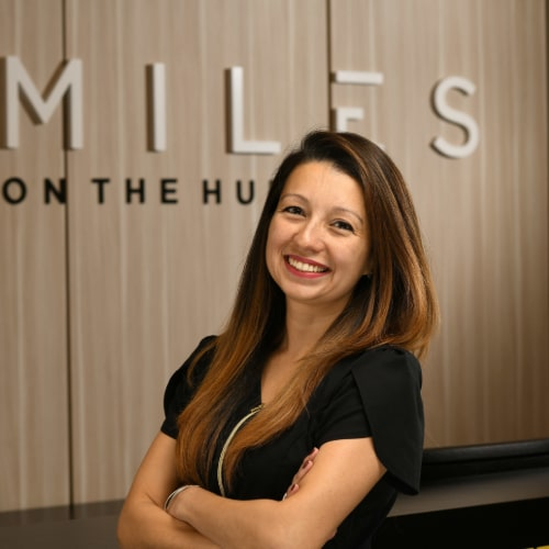Diana of Smiles on the Hudson dental practice in Edgewater, New Jersey