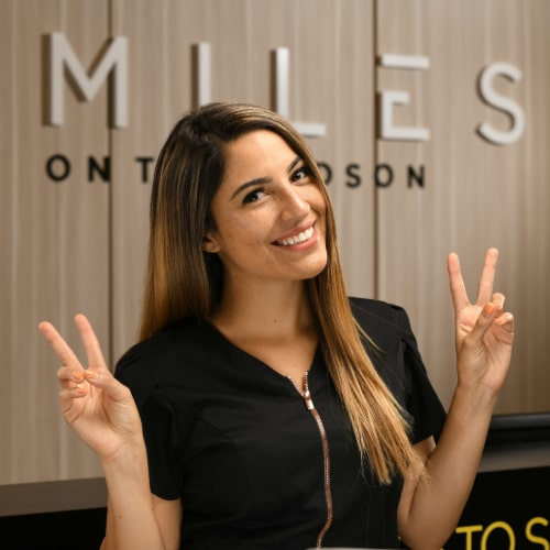 Jasmine is excited to see you at our dental practice in Edgewater, New Jersey