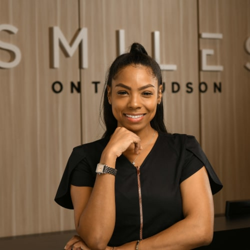 Kenisha of Smiles on the Hudson dental practice in Edgewater, New Jersey