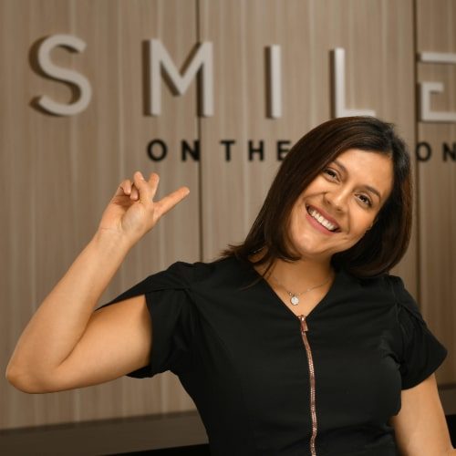 Lily is excited to see you at our dental practice in Edgewater, New Jersey